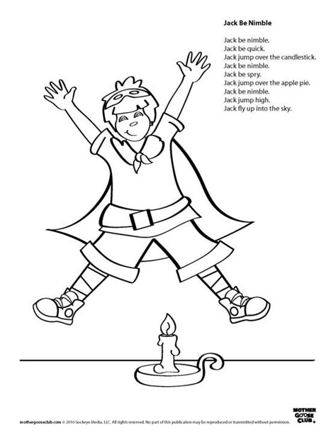 preschool coloring pages jack and jill coloring pages jack be nimble live speakaboos