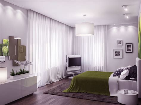 Beautiful Green Bedrooms by Awesome Visualization Ukrainian Apartment Interior