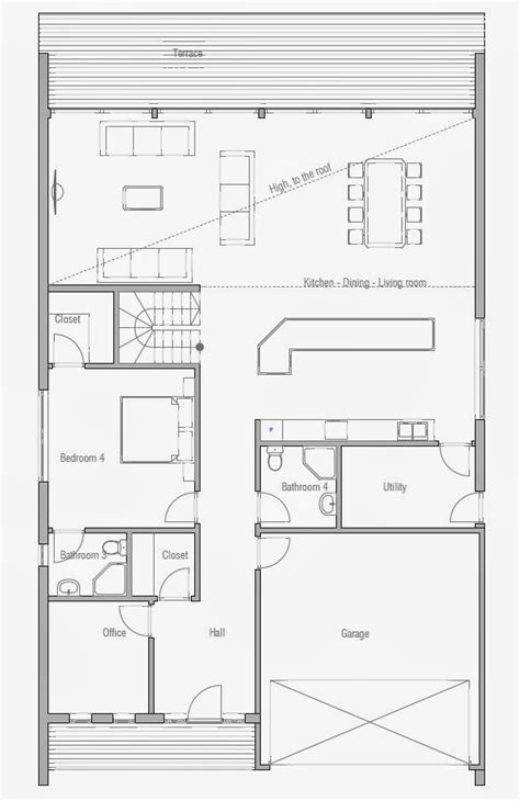 affordable floor plans affordable home plans affordable home plan ch190