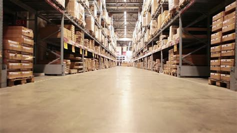 warehouse interior  loopable animation camera  moving