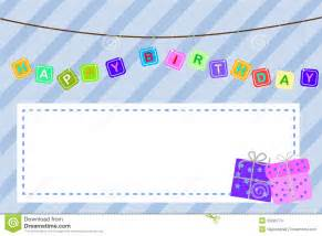 template baby birthday greeting card stock images image