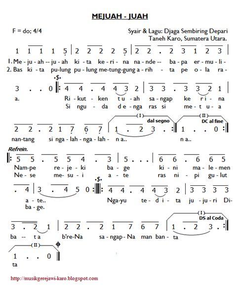 not angka lagu rohani mengejar hadirmu musik gerejawi karo partitur lagu karo mejuah juah