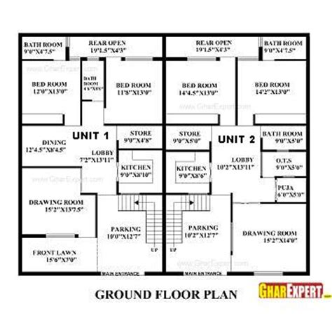 60 sq feet house plan for 60 feet by 50 feet plot plot size 333