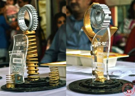 Handmade Trophy - handmade trophies from recycled car parts recyclart