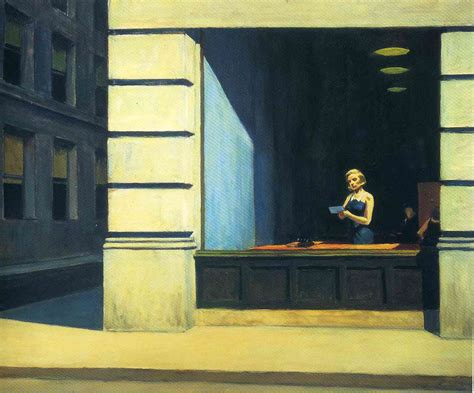 Ny Office by New York Office 1962 Edward Hopper Wikiart Org