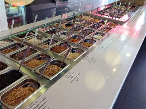 frozen yogurt toppings bar self serve topping bar yelp