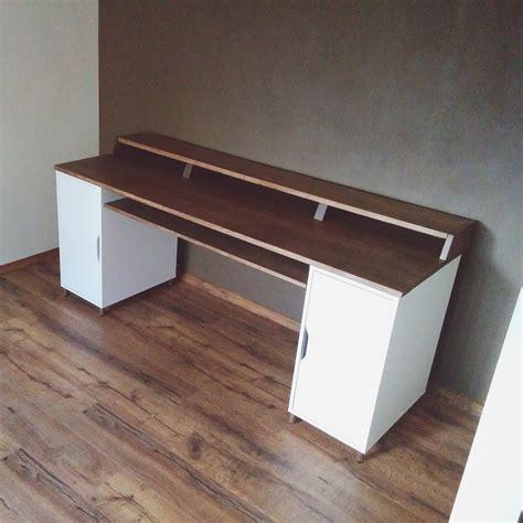 diy studio desk my woodworking project a hardwood home studio