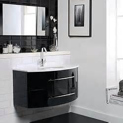 Gloss Black Bathroom Furniture Hudson Reed Crescent Gt Wall Hung Furniture Set High Gloss Black