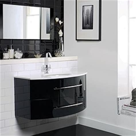 Hudson Reed Crescent Gt Wall Hung Furniture Set High Gloss Gloss Black Bathroom Furniture