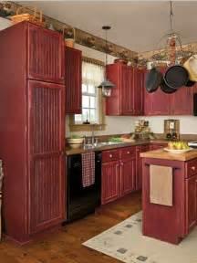 Charmant Repeindre Une Cuisine En Bois #1: 4-meubles-de-cuisine-rouges-repeindre-les-meubles-de-cuisine-repeindre-faience-cuisine.jpg