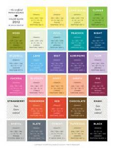 color rgb values paper source pantone cmyk rgb color guide color