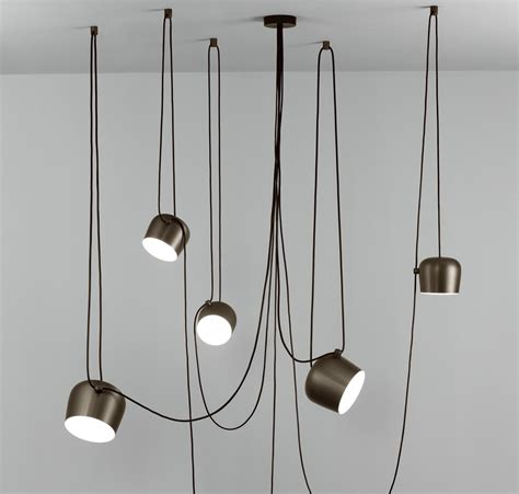 flos illuminazione aim multi light pendant by flos lighting fu009026brs5