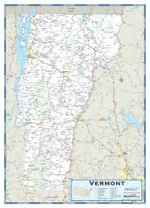 vermont highway wall map maps