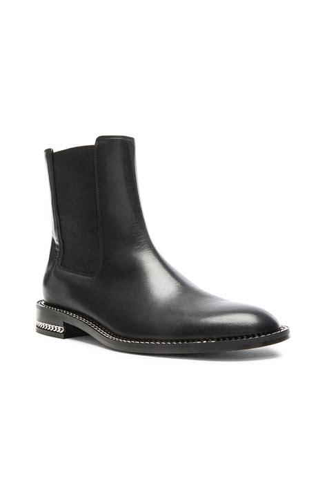 Flat Black Leather flat black leather ankle boots yu boots