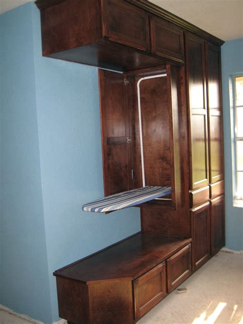 cabinet with ironing board top built in ironing board cabinet home design ideas