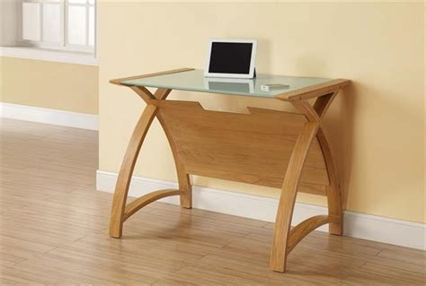 Curve Office Walnut Or Oak Laptop Desk 90cm Jua Pc201lto Oak Laptop Desk