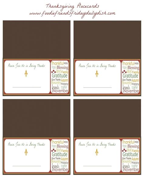 printable thanksgiving seating cards thanksgiving place card printables pig roast pinterest