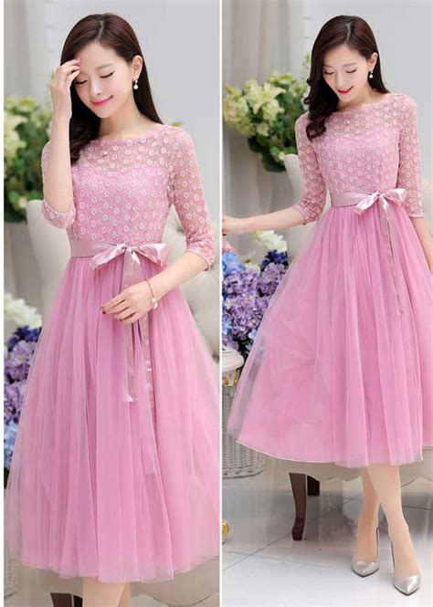 Gaun Pesta Panjang Bahan Silk Dan Bertali Dekorasi Manik Longdress gaun dress panjang korea cantik untuk pesta a2921