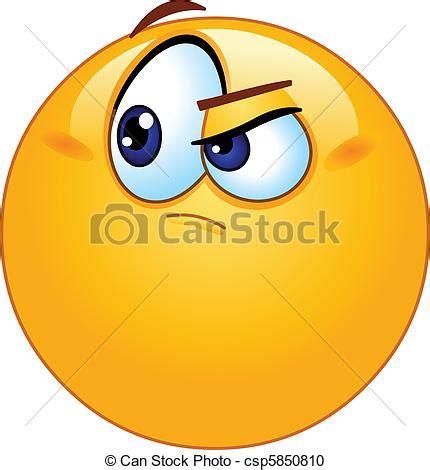 clipart vettoriali clipart vettoriali di emoticon dubbioso dubbioso