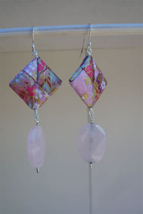 Quartz Origami - t s shop quartz origami earrings