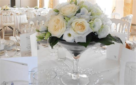 decoration florale pour table de mariage la pilounette