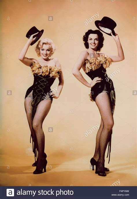 marilyn monroe gentlemen prefer blondes marilyn monroe jane russell gentlemen prefer blondes