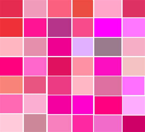 shades of pink list of top quot pink quot products