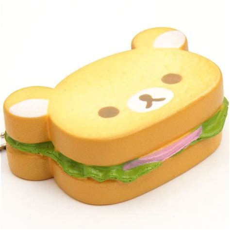 Rilakkuma Sandwich rilakkuma sandwich bread squishy cellphone charm