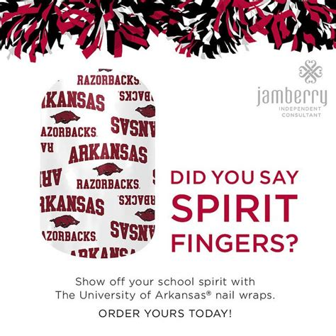 Show Your School Spirit With Chip Pepper by 12 Best Images About Arkansas Razorbacks Jamberry Nails