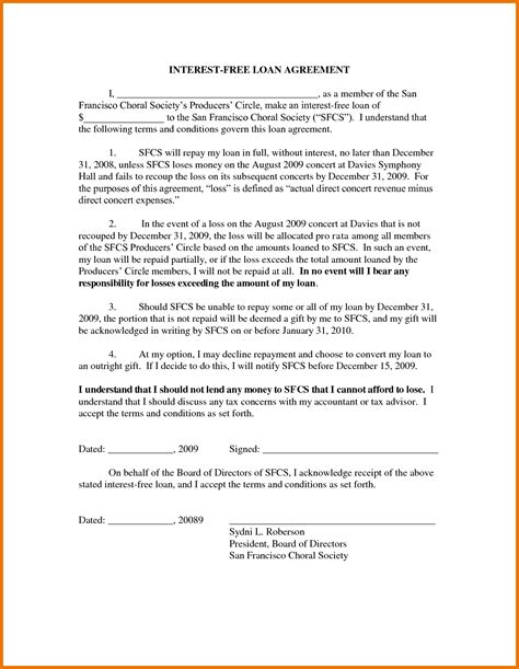 Genealogy Letter Of Agreement Template Of Loan Agreement Loan Agreemen Sle Of
