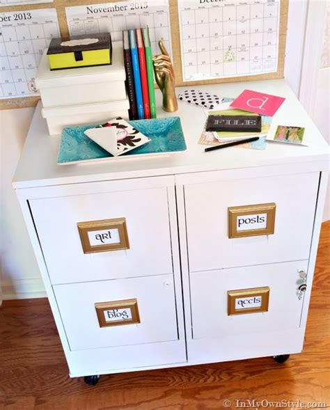 metal filing cabinet makeover file cabinet makeover in my own style