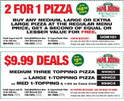 Papa John S Discount Vouchers | march papa johns pizza coupons and codes coupon codes blog