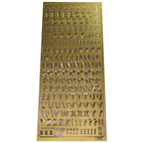 Aufkleber Buchstaben Gold by Buchstaben Sticker Gold Konturensticker Alphabet Abc