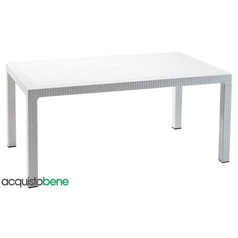 tavoli e sedie da giardino in resina tavolo da giardino in resina effetto rattan intrecciato bianco