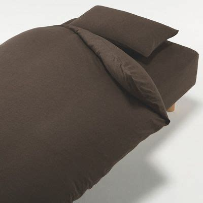 Cotton Jersey Quilt Cover by Organic Cotton Jersey Duvet Cover Brown K 210x230cm