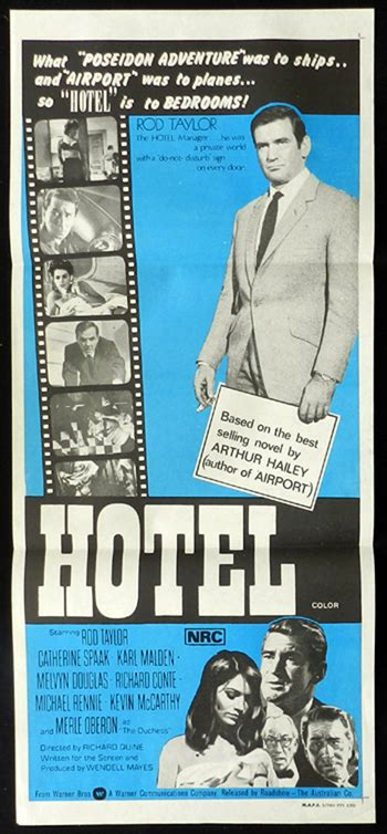 film blue hotel hotel rod taylor catherine spaak rare daybill movie poster