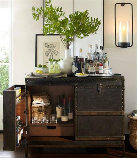 pottery barn red bar cabinet pottery barn ludlow trunk bar cabinet