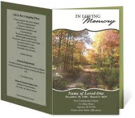 memorial bulletin template printable funeral bulletins templates for outdoor theme