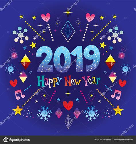 gelukkig nieuwjaar  wenskaart stockvector  aliasching
