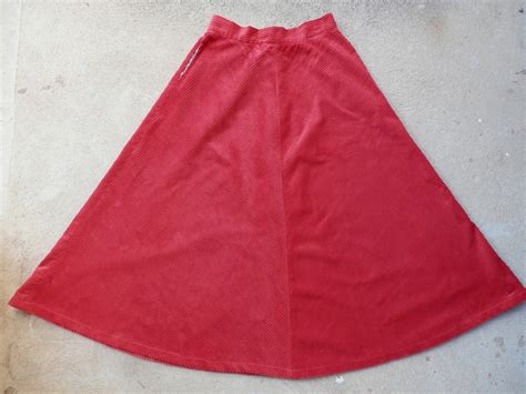 second swing com second swing skirt texan belle skirt in red corduroy