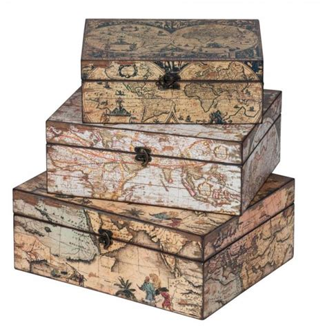buy map printed storage boxes storage boxes map