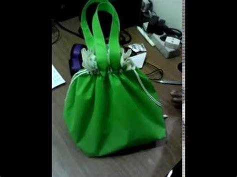 youtube cara membuat tas rajut aiken souvenir cara membuat tas serut dari bahan furing