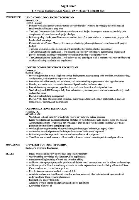 Field Radio Operator Sle Resume by Sle Communication Resume Cover Letter Exles Nursing Building Operator Sle Resume