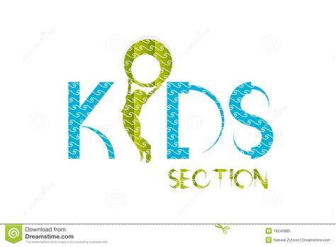 sectionalism for kids kids logo design royalty free stock photo image 18240885