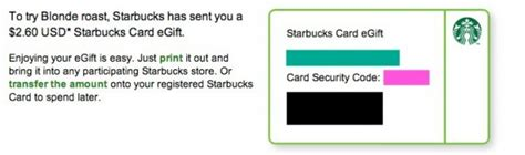 Starbucks Gift Card Amounts - free starbucks gift card get 2 60 to try starbucks blonde roast or anything