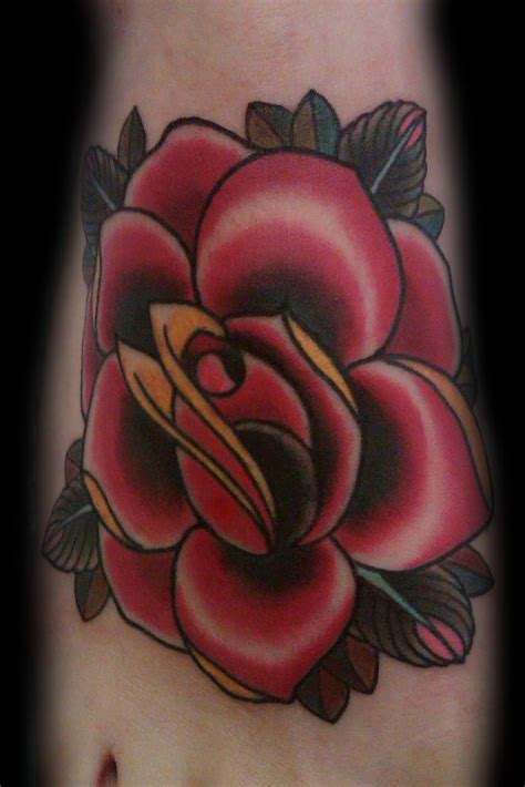 tattooed rose tattoos picture