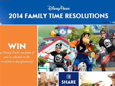 Disney Prizes Sweepstakes - disney parks 2014 family time resolutions sweepstakes sweepstakes fanatics