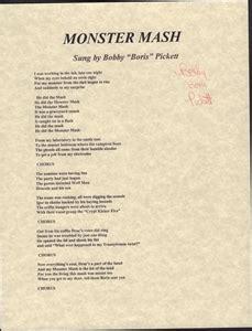 printable lyrics monster mash 1960 s hit mash lyrics signed by deceased singer bobby
