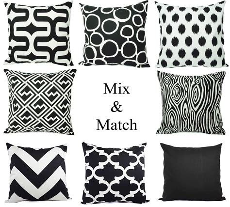 black couch with pillows black and white sofa pillows best 25 black pillow cases