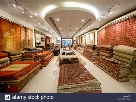 rug store rug and carpet store shopping mall dubai uae stock